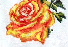 Простая вышивка крестом: розы и всевозможные вариации