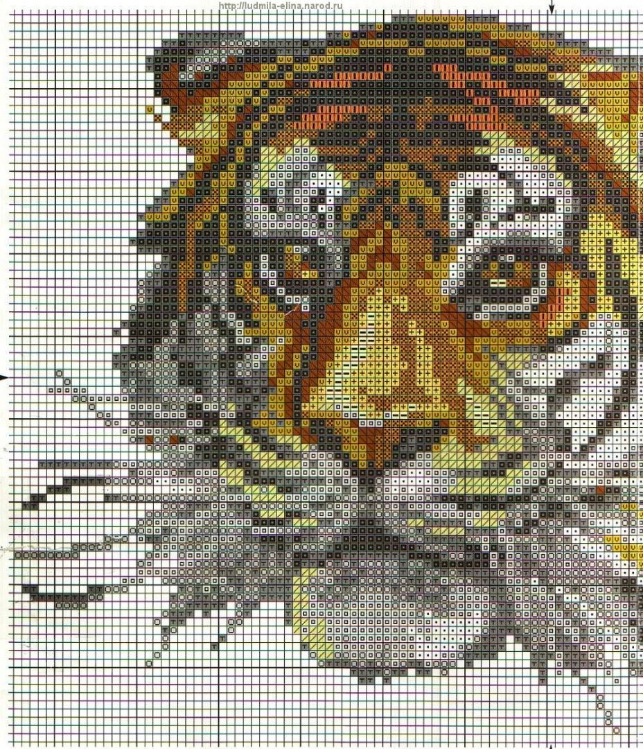 Вышивка тигренок схема скачать бесплатно фото 53