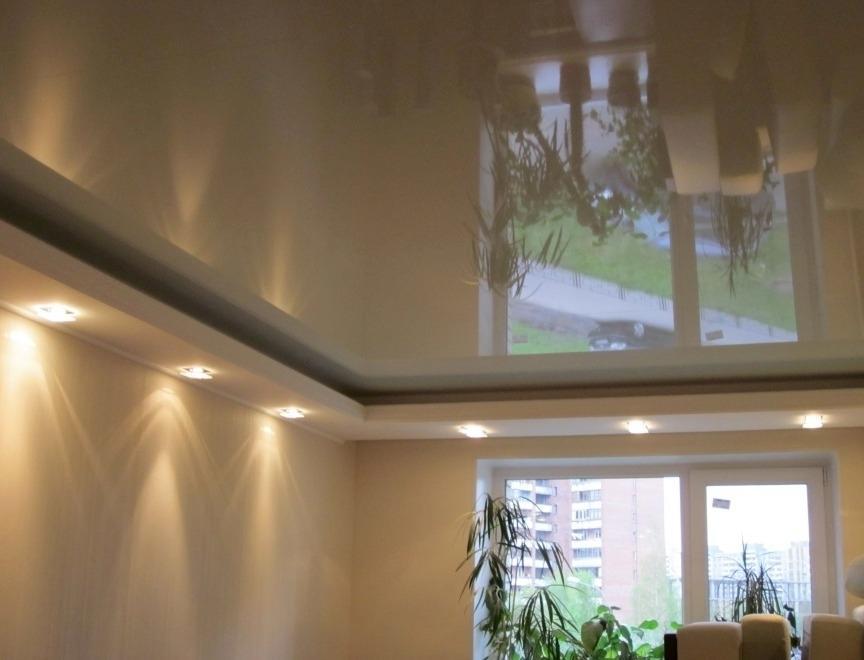 Картинки потолки гипсокартон и натяжной фото