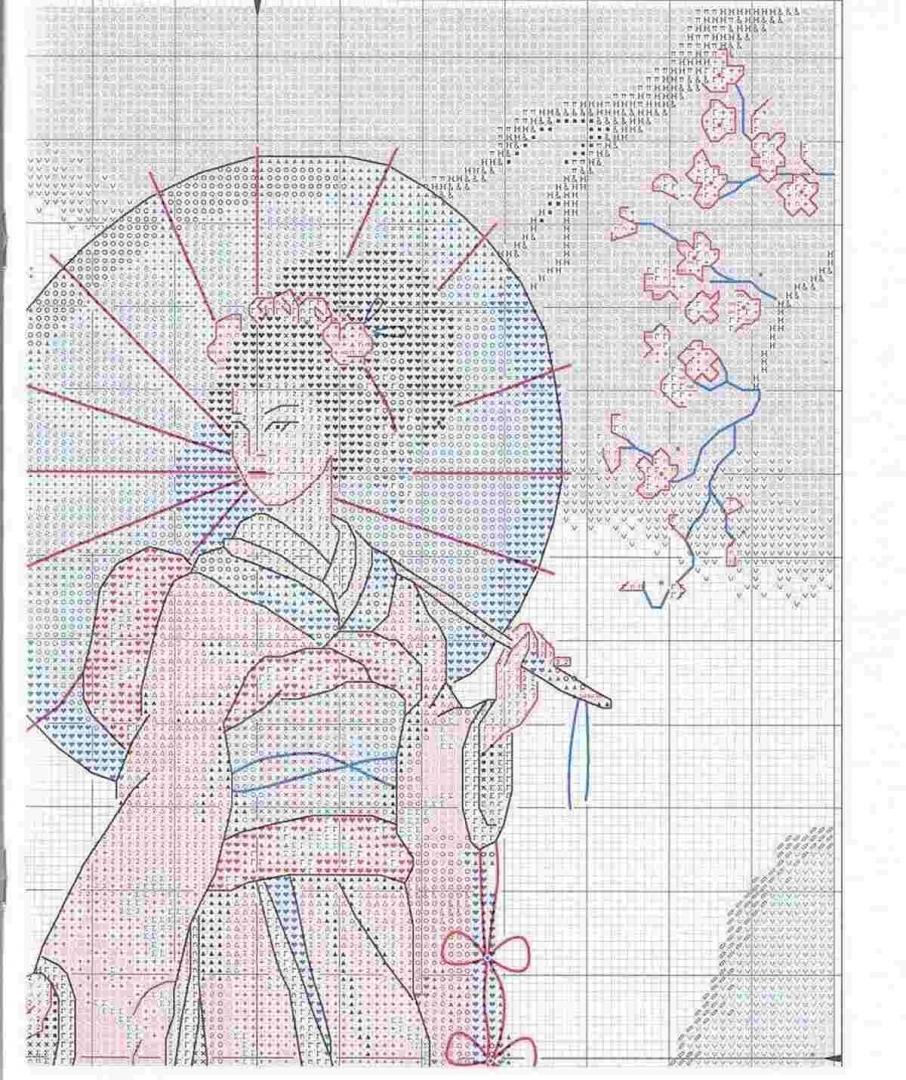 как вышить крестиком фотографию по китайской схеме народе вот
