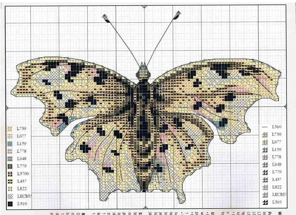 Вышивка схема бабочки скачать бесплатно фото 568