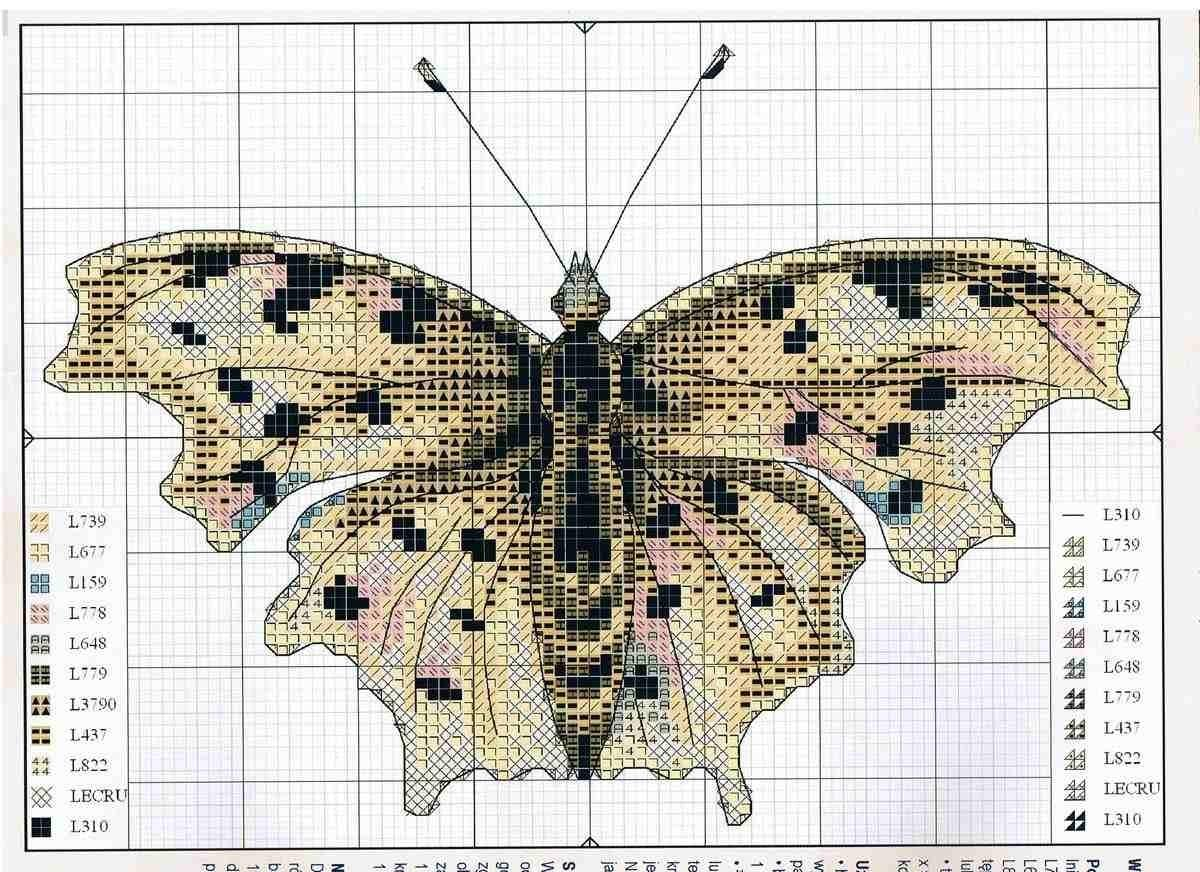 Схема вышивки бесплатно бабочка фото 903