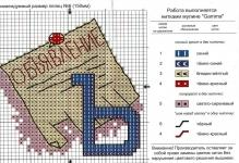 Красивый алфавит – вышивка крестом, схемы