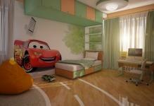 garmonija-zelenogo-i-oranzhevogo-v-dizajne-detskoj