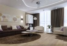 Luxury-Brown-Livingroom-Design-for-Large-Apartment-with-Large-Window-and-Ceiling-Lamp