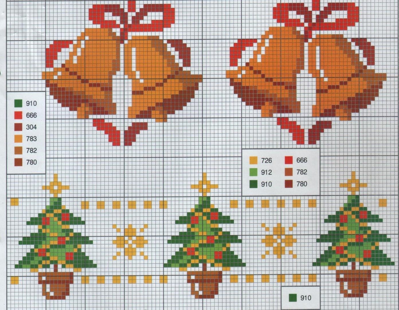Схемы вышивки Петуха крестом, Новый год