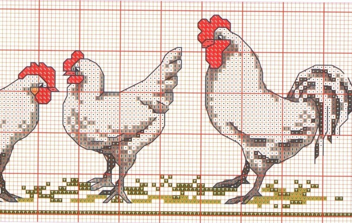Схема для вышивания петух фото 549