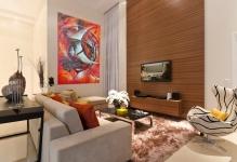 Contemporary-living-room-sofa-pillow-furry-rug