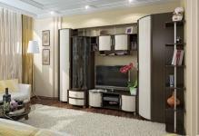 Выбираем угловую стенку в гостиную: 3 вида