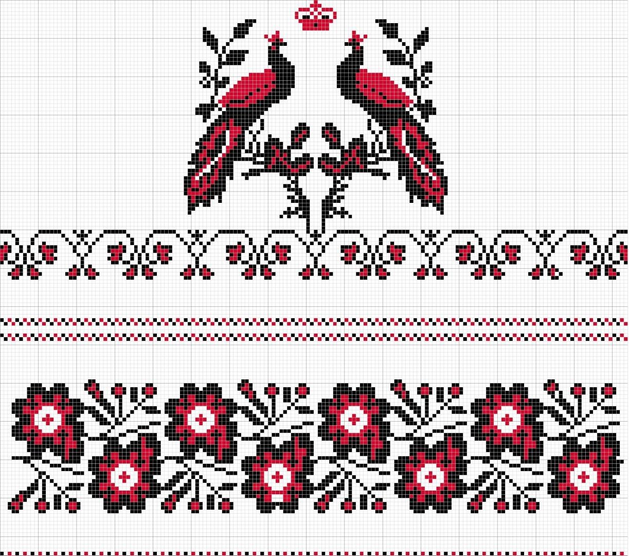 Схема вышивки крестиком рушника фото 20