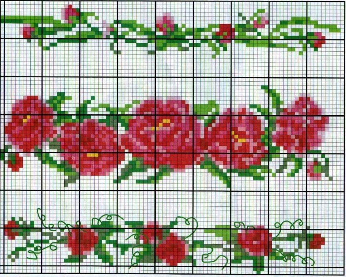 Схема вышивки крестиком рушника фото 795
