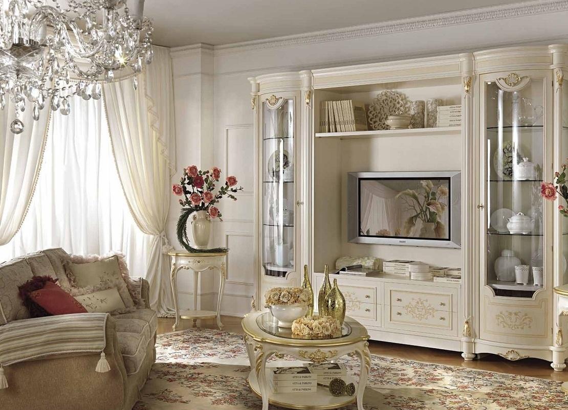 мебельные стенки для гостиной классика фото италия