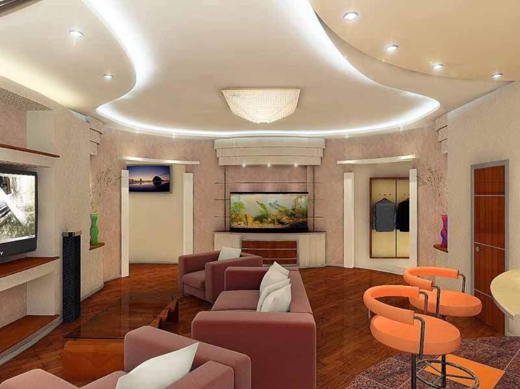 они потолок в гостиной из гипсокартона дизайн фото моя