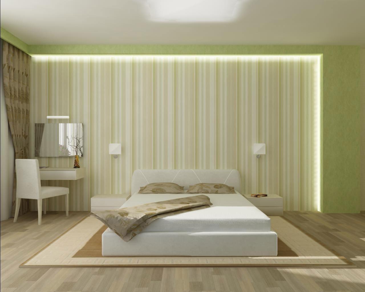 спальня без обоев фото томате
