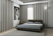 Bedroom-with-gray-minimalist-interior-and-furniture
