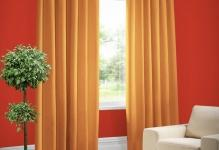 The-walls-are-red-orange-curtains