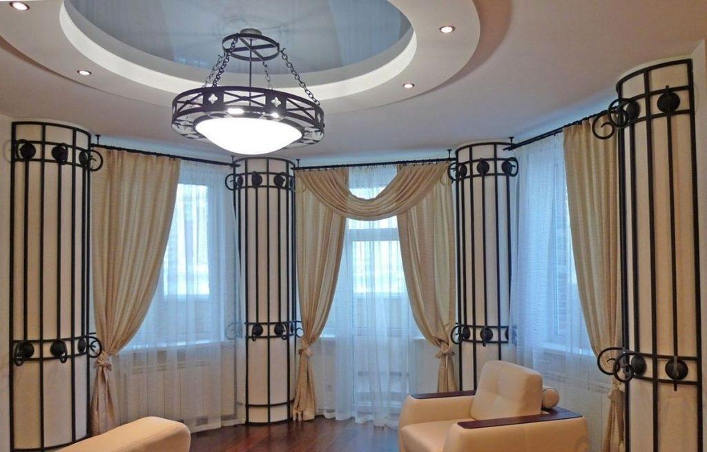 красивый карниз для штор в гостиную фото как-то, производства закрывают