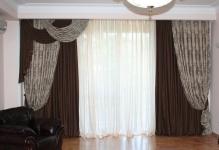 Выбираем портьеры для гостиной: фото и рекомендации