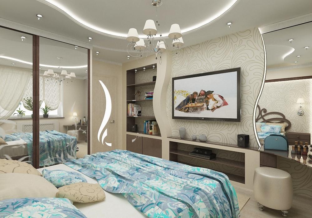 Картинки спальной комнаты в квартире фото