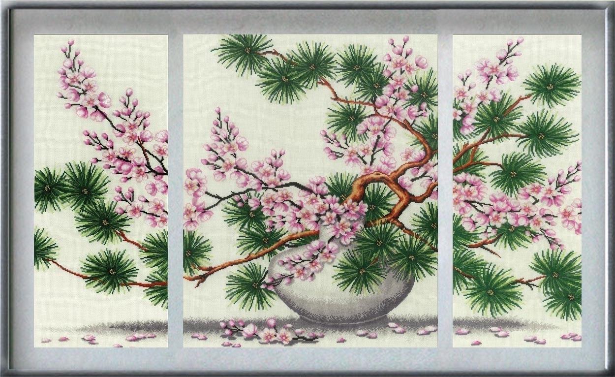 Современные модульные картины: 7 схем для вышивки крестом
