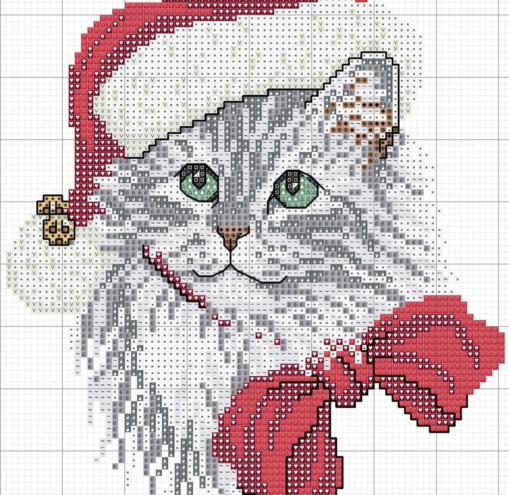 Картинки вышивки крестом коты