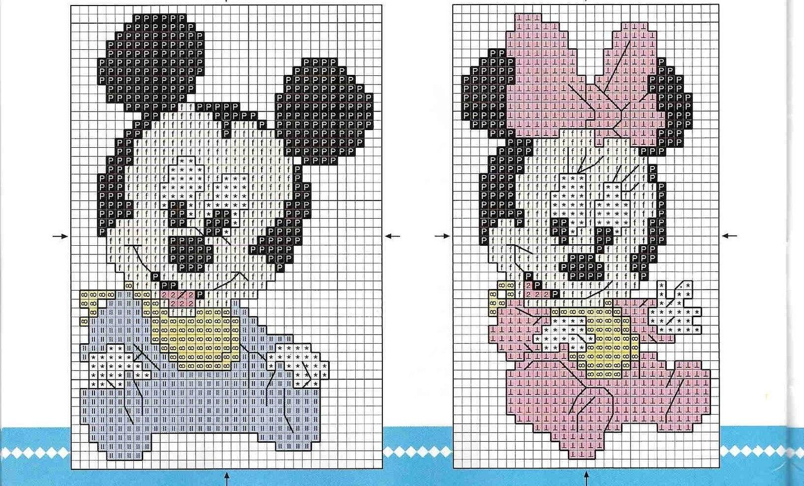 Схемы вышивок крестиком детских небольших картинок