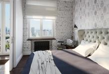 Kirpichnaya-stena-v-spalne-vozle-okna