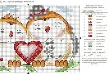 Тематические схемы вышивки крестом «любовь»: 7 идей