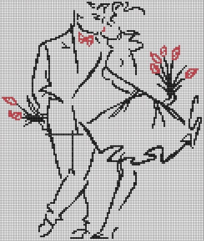 Картинки вышитые крестиком влюбленная парочка