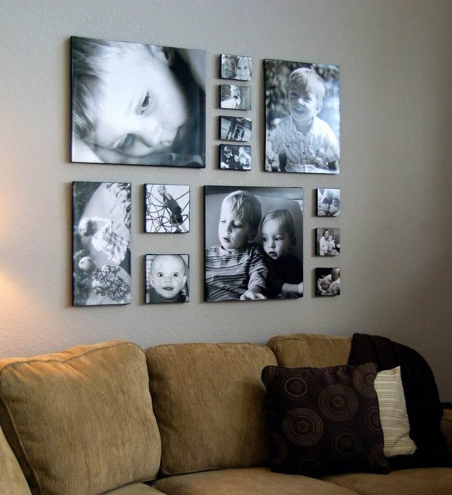 которая позволяет коллаж на стену из фотографий покрывала, картины