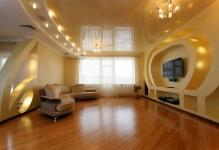 luxurious-gypsum-ceiling-lighting-for-home-interior-with-wooden-flooring-ideas