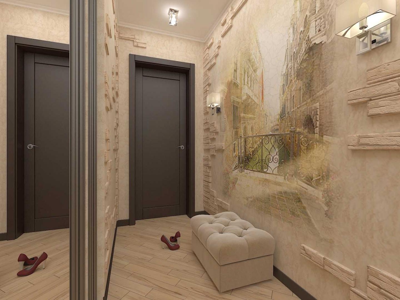 одна них обои для оформление коридора в квартире фото часто используют