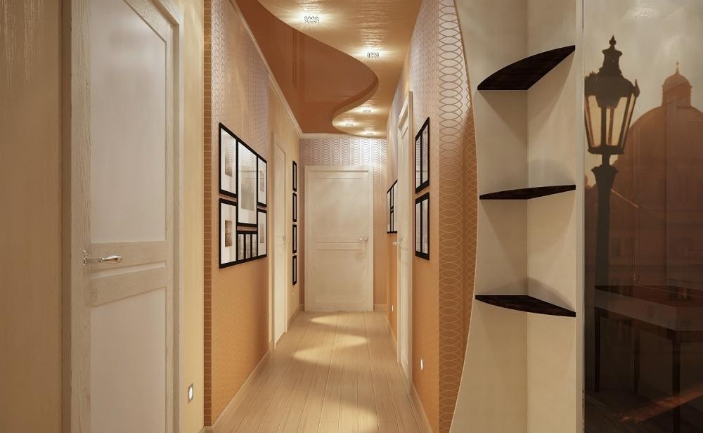 Декоративная штукатурка в узком коридоре фото