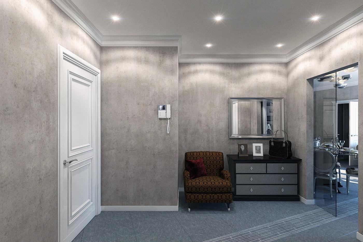 Жидкие обои в коридоре фото интерьеров в обычных квартирах