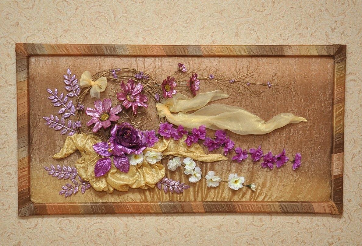 Как сделать панно из искусственных цветов фото 302