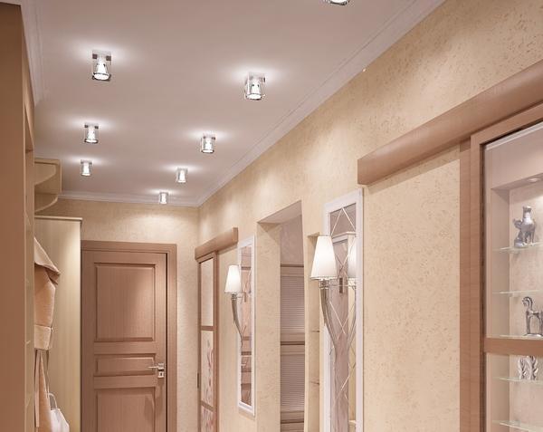 Illuminazione Di Un Corridoio : Controsoffitto nella foto corridoio