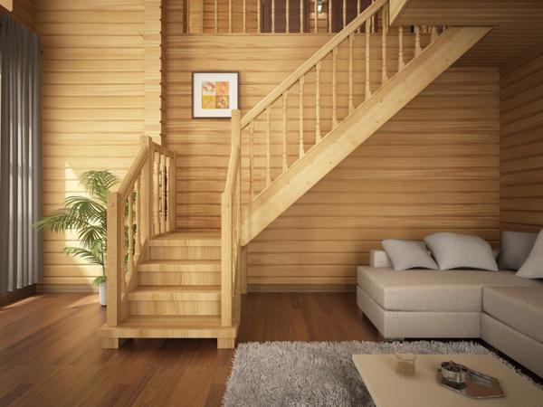Деревянная лестница для дачи и частного дома имеет ряд преимуществ