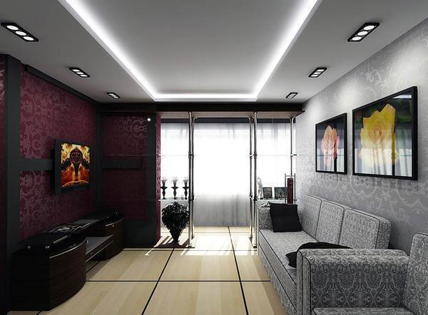 Увеличить пространство комнаты можно при помощи цветовой комбинации