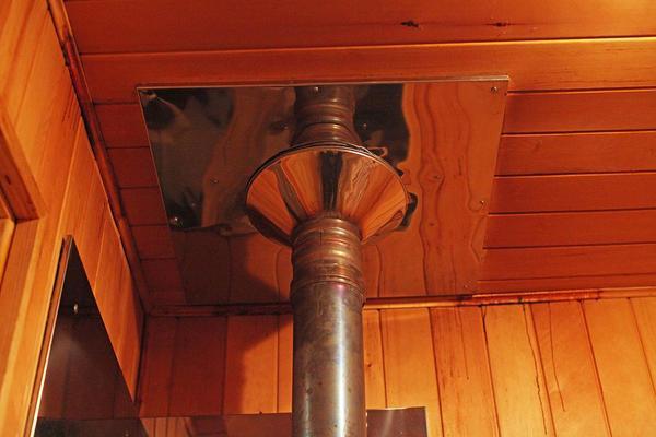 Сэндвич-труба не должна напрямую соприкасаться с деревянными элементами интерьера
