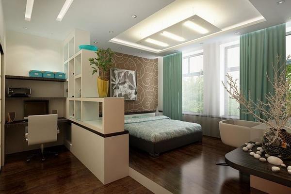 Мини-кабинет в спальне - это очень удобное решение для тех, кто часто занимается работой дома