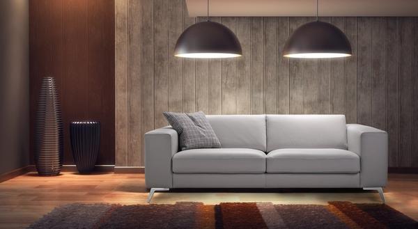Прекрасным вариантом для спальни станет небольшой оригинальный диванчик