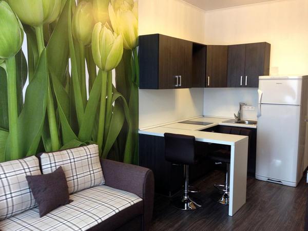 Используя метод комбинирования обоев, можно выделить определенные участки в большой комнате или квартире-студии, зонируя пространство