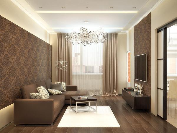 Интерьер зала в квартире требует особенно нуждается в правильной организации пространства