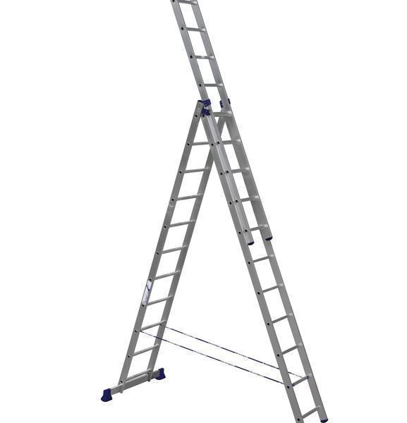 Лестница Алюмет 5307 изготовлена из алюминия, в результате чего имеет небольшой вес и длительный срок службы