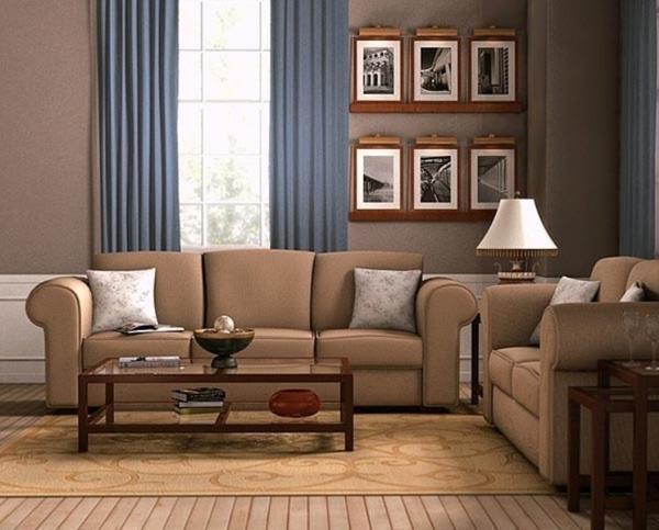Обои темных теплых тонов зрительно сужают помещение, поэтому рекомендуются к использованию в просторных и хорошо освещенных комнатах