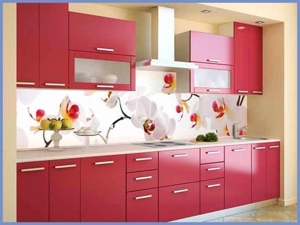 Влагостойкие обои с орхидеями создадут на кухне особую атмосферу и оригинальность интерьера