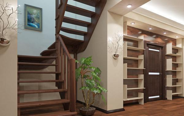 П-образные лестницы могут отличаться по высоте перил, ширине ступеней и материалу, из которого они изготовлены
