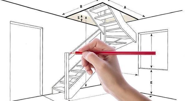Расчет лестницы в частном доме начинается с замеров помещения