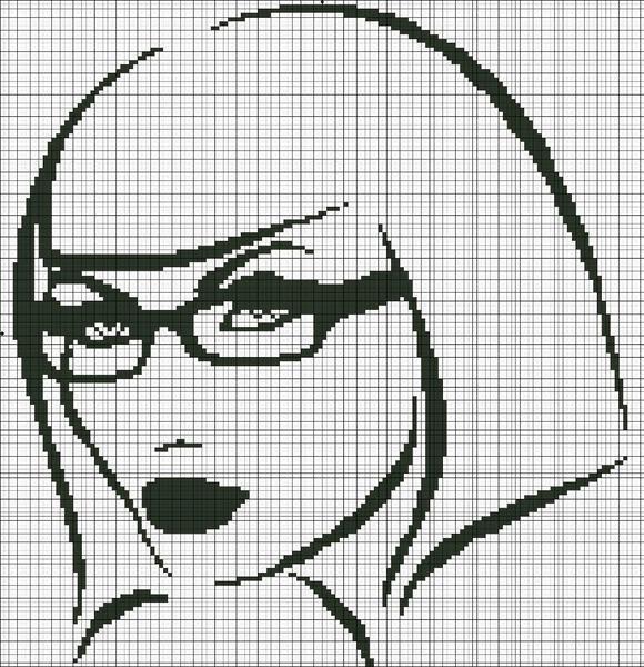 Несмотря на сложность в вышивке портрета, с ним справятся даже новички, ведь в монохромии обычно используется не более 4 цветов