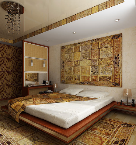 Даже без помощи дизайнера можно обустроить очень уютную и комфортабельную спальню